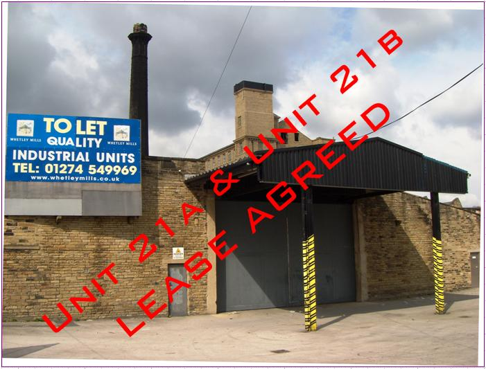 Works/Warehouse Building – Unit 21 B – Whetley Mills